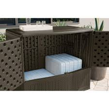Suncast Outdoor Patio Furniture by Suncast Elements Backyard Oasis With Storage Outdoor Living