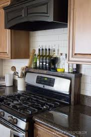 Build A Shelf Over Your Stove To Hold Oils Vinegars And Seasonings The Kitchen Sink DecorKitchen