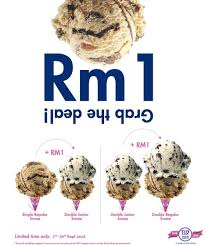 Baskin Robbins RM1 Extra Scoop Of Ice Cream Promotion 1 - 30 ... Baskin Robbins Free Ice Cream Coupons Chase Coupon 125 Dollars Product Name Online At Paytmcom 50 Off Paytm National Ice Cream Day Freebies And Deals Robbins Coupons Get Off Deal 3 Your Next Baskrobbins Cake Or Dig Into Freebies On Diamonds Dads Dog Food Printable Home Delivery Order Online Hirdani 2 Egift Card Expires 110617 Singleusecodes Buy One Get Tuesday 2018 Store Deals Cookies Pralines N 500ml