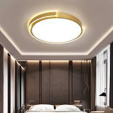 skandinavische gold dimmbar led rund deckenleuchte mit fernbedienung moderne metall deckenle mit acryl lenschirmen für schlafzimmer wohnzimmer