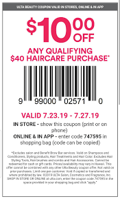 Ulta Coupon $10 Off Of $40 Haircare Purchase- Code: 747595 ... Gorgeous Hair Event Ulta Beauty 20 Off Ulta Coupon October 2019 Zappos Coupons And Promo Codes September Off Universal One Nonprestige Item Online Skin Beauty Mall Code Recent Discounts Shipping Ccinnati Ohio Great Wolf Lodge 21 Stores You Shouldnt Shop Unless Have A Coupon The Promo 2018 Snappy Nails Broomfield Battery Mart Everything April Ulta 7 Best 350 Sep Honey Apple Discount For Teachers Inksmile Com