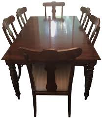 Ethan Allen Dining Room Table Leaf by 7 Piece Ethan Allen British Classic Dining Set Chairish