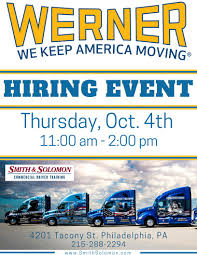 Hiring Event Philadelphia, PA | Smith & Solomon Best Jobs For Truck Drivers Visual Ly With One Application Drivers Forced To Ignore Federal Mandated Regulations Tabor Law Trucking Company Recruiting Website Design Salaries Are Rising In 2018 But Not Fast Enough How Age Affects Car Insurance Costs Camana Capital Is Here Provide Companies Driver Salary Canada 2017 Youtube All About Wrap Advertising Earn Up To 1000 Per Month Drive Henderson For Otr Long Haul Custom Sleepers While Costly Can Ease Rentless Lifestyle 12 Secrets Of Fedex Delivery Mental Floss