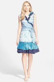 diane von furstenberg u0027judette u0027 mixed print cotton wrap dress