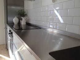 rostfri diskbänk i ett ikea metod kök stainless steel