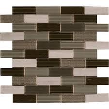 tivoli 12 in x 12 in x 6 mm glass mesh mounted wall tile