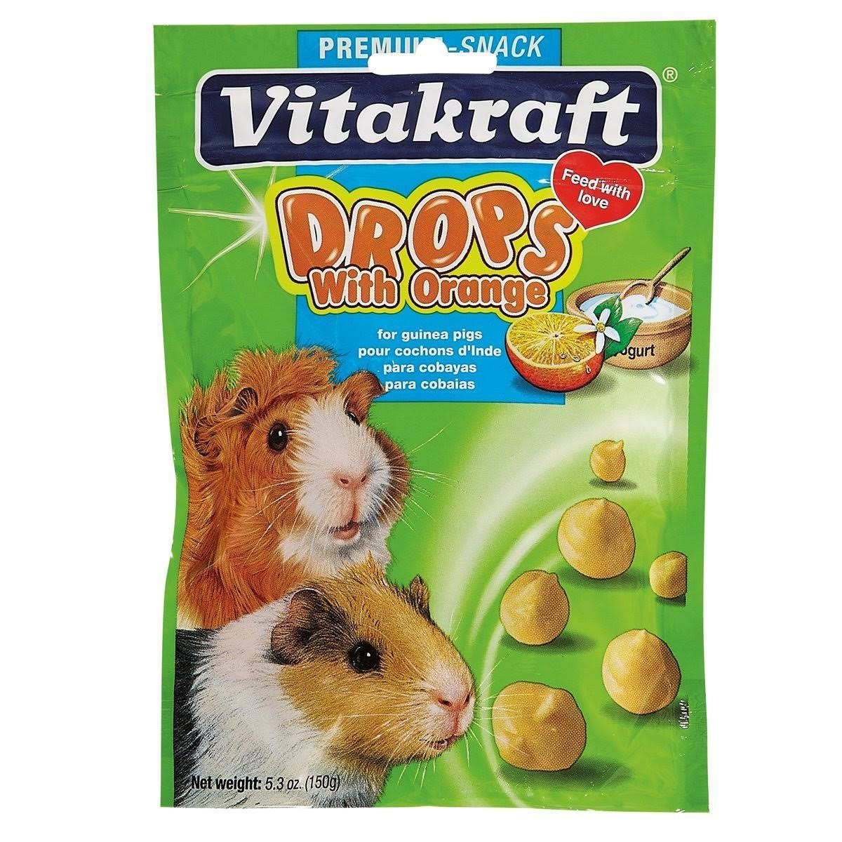 Vitakraft Pet Products Guinea Pig Drops - Orange, 150g