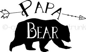 Papa Bear Car Decal