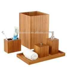 bambus holz badezimmer set zubehör luxus bad zubehör buy badezimmer set zubehör holz bad accessoires luxus bad accessoires product on alibaba