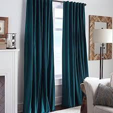 Teal Blackout Curtains Pencil Pleat by Teal Cotton Velvet Curtains Including Tie Backs 100 Blackout