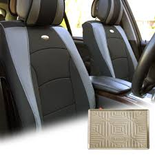 100 Truck Dash Covers BESTFH Car SUV PU Leather Seat Front Bucket Gray W