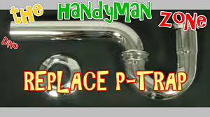 Bathtub Drain Trap Assembly by Replace Leaky Bathroom Sink Drain Pipe P Trap Kit Youtube