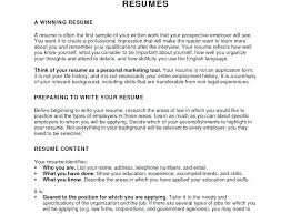 Writing Your Resume How To Write A Objective Personal