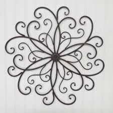 Large Wrought Iron Wall Decor You Pick Colors Metal Rust Flower Scroll Bedroom Garden Outdoor Can Use As
