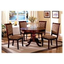 sun pine 5pc round pedestal dining table set wood antique cherry