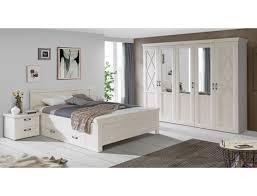 schlafzimmer kasimir 84 pinie weiß bett 180x200 mit