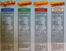 Nutrition Facts Panel Chocolate Chip Bars By Clif Bar Thrive Market 4719741