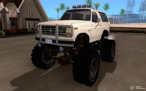 100 Ford Monster Truck 1985 Bronco For GTA San Andreas