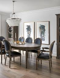 French Dining Room Sets by Oval French Dining Table With Black Leather Round Back Chairs