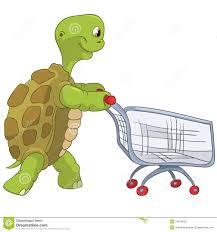 Tortuga Divertida Compras Ilustración Del Vector Ilustración De