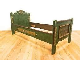details zu voglauer anno 1800 bett einzelbett bauernbett schlafzimmer 90 x 200 grün