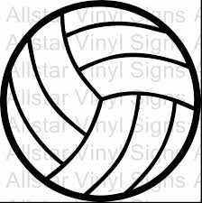 Remarkable Volleyball Outline Clip Art With Coloring Pages And Free Printable