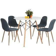 Dining Tables Modern White Kitchen Table Sets Black White Dining