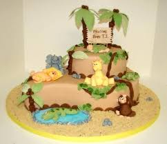 Fondant Safari Baby Shower Cakes Ideas Wedding Academy Creative