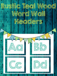 Enjoy This Rustic Style Word Wall Headers To Make Your Shabby Chic Classroom Perfect Use