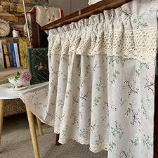 küchen halber vorhänge scheibengardine bistrogardine dekoration retro baumwolle leinen kurzer gardinen café vorhang badezimmer kleines