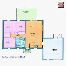 plan maison plain pied 3 chambres en l plan maison 100m2 plein pied 3 chambres trendy plan maison plain