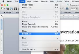 Select All Shown Here On Word 2016 For Mac