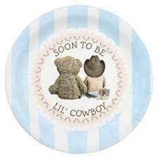 Soon To Be Lil Cowboy Baby Shower Paper Plates