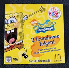 mc donalds happy meal dvd spongebob schwammkopf 2 folgen