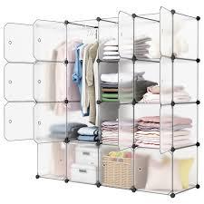 16Cube DIY Modular Closet Organizer Clothes Shoes Wardrobe Shelf