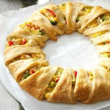 Chicken Crescent Wreath Recipe Taste Of Home