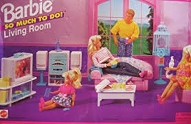 Barbie Living Room Furniture Set by Amazon Com Barbie So Much To Do Living Room Playset 1995