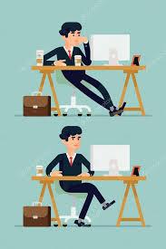ennui au bureau employé de bureau s ennuie image vectorielle masha tace 62960909