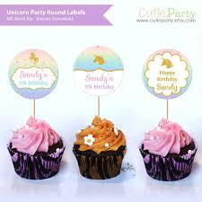 Unicorn Party Cupcake Topper Printable