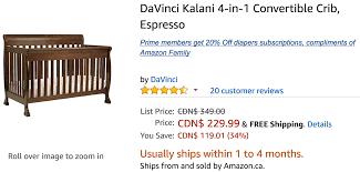 Sears Shoal Creek Dresser by Amazon Canada Deals Save 19 On Davinci Kalani 4 In 1 Convertible