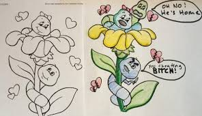 Brilliantly Corrupted Coloring Books To Help Ruin Your Childhood 24 Photos 2