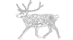 The Caribou Colouring Page