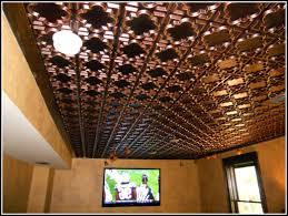 Polystyrene Ceiling Tiles Australia by Interior Embossed Tin Black Drop Ceiling Tiles Faux Tin