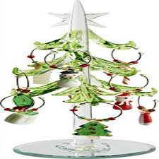 LSArts Green Leaf Christmas Tree Wine Charms With Markers 75 Inch