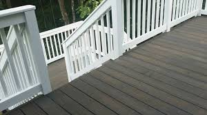 Cabot Semi Solid Deck Stain Drying Time by Deck Cabot Semi Solid Burnt Hickory And Painted White Railings