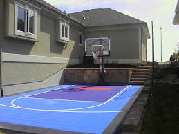 Small Backyard? Not A Problem With Sport Court | Sport Court Multisport Backyard Court System Synlawn Photo Gallery Basketball Surfaces Las Vegas Nv Bench At Base Of Court Outside Transformation In The Name Sketball How To Make A Diy Triyaecom Asphalt In Various Design Home Southern California Dimeions Design And Ideas House Bar And Grill College Park Half With Hill