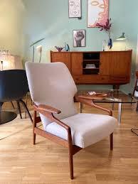 dänischer sessel armchair hochlehner teak patinamöbel vintage living