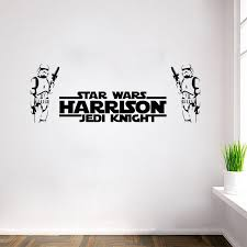 Star Wars Room Decor Diy by Star Wars Wall Stickers Two Stormtroopers With Letters Home Decor