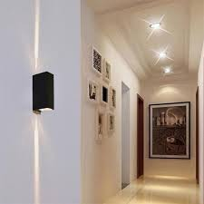 6w outdoor led wall ls square waterproof sconce up and