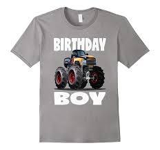 100 Monster Truck T Shirts Birthday Boy Vintage Bday Boys Flames ShirtD Eedep